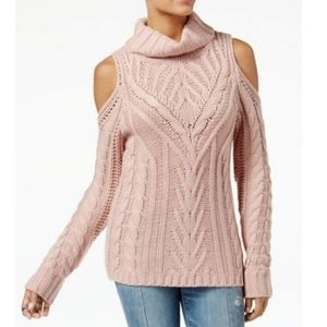 NWT American Rag Pink Cold Shoulder Sweater